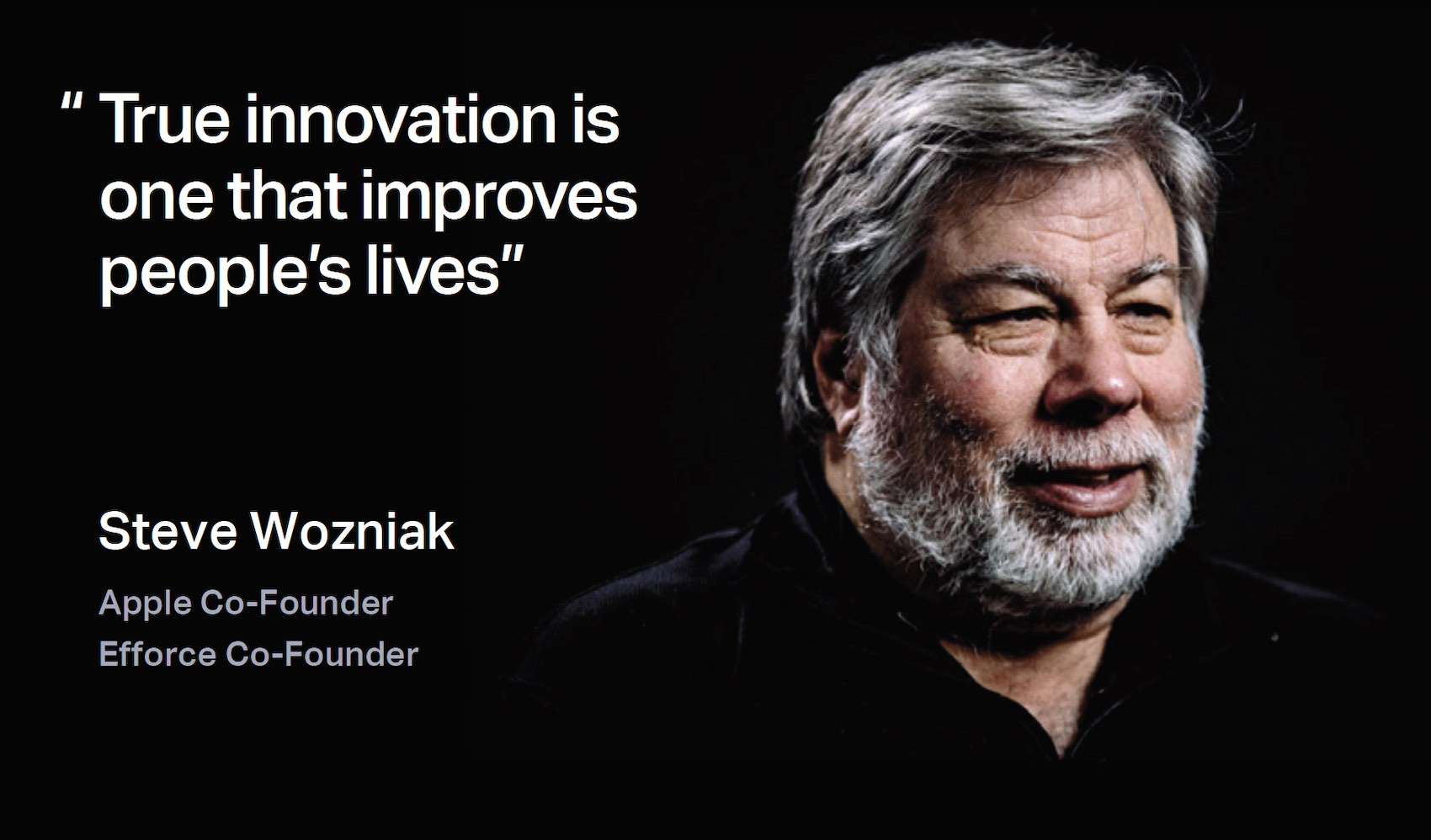 Steve Wozniak Efforce