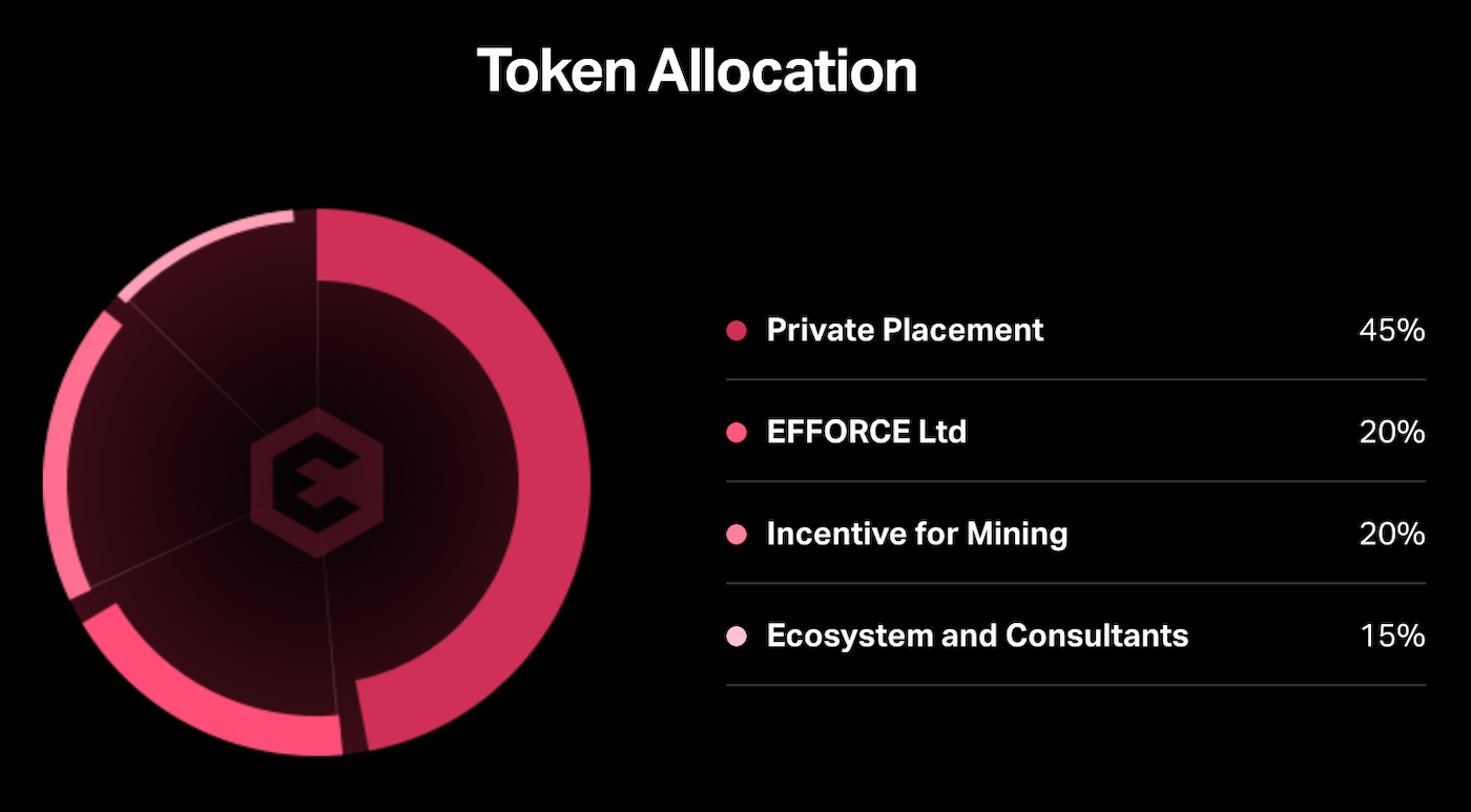 efforce token allocation