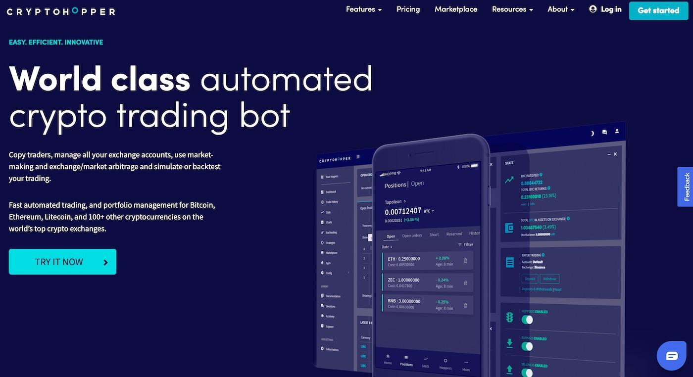 cryptohooper crypto trading bot